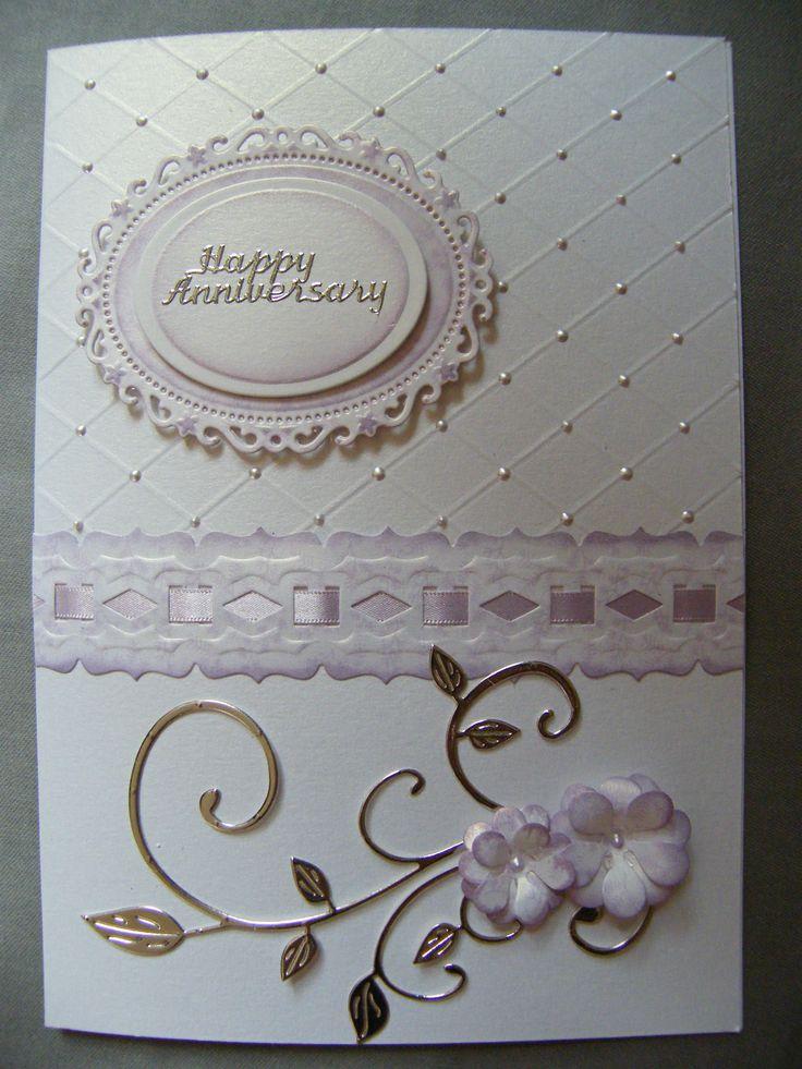 made using Hougie board Spellbinders floral oval