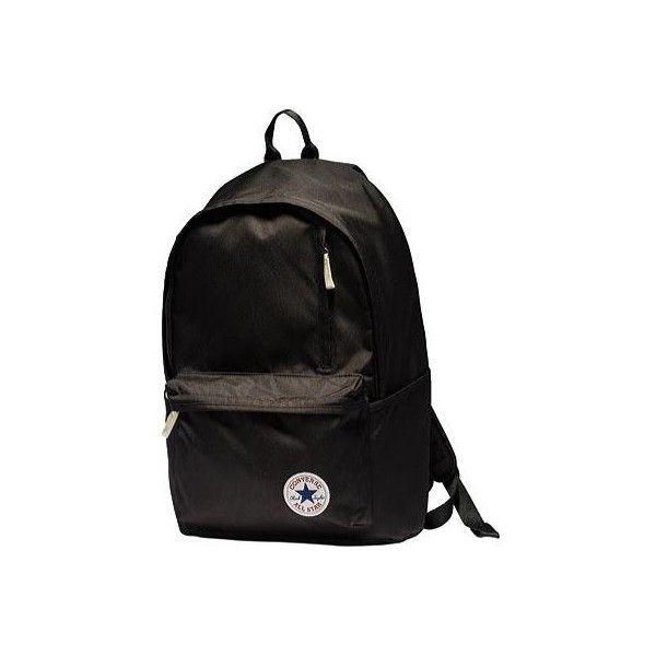 Converse Original Backpack - Black ($40) ❤ liked on Polyvore featuring bags, backpacks, black, converse backpack, converse bag, padded bag, knapsack bag and backpack bags