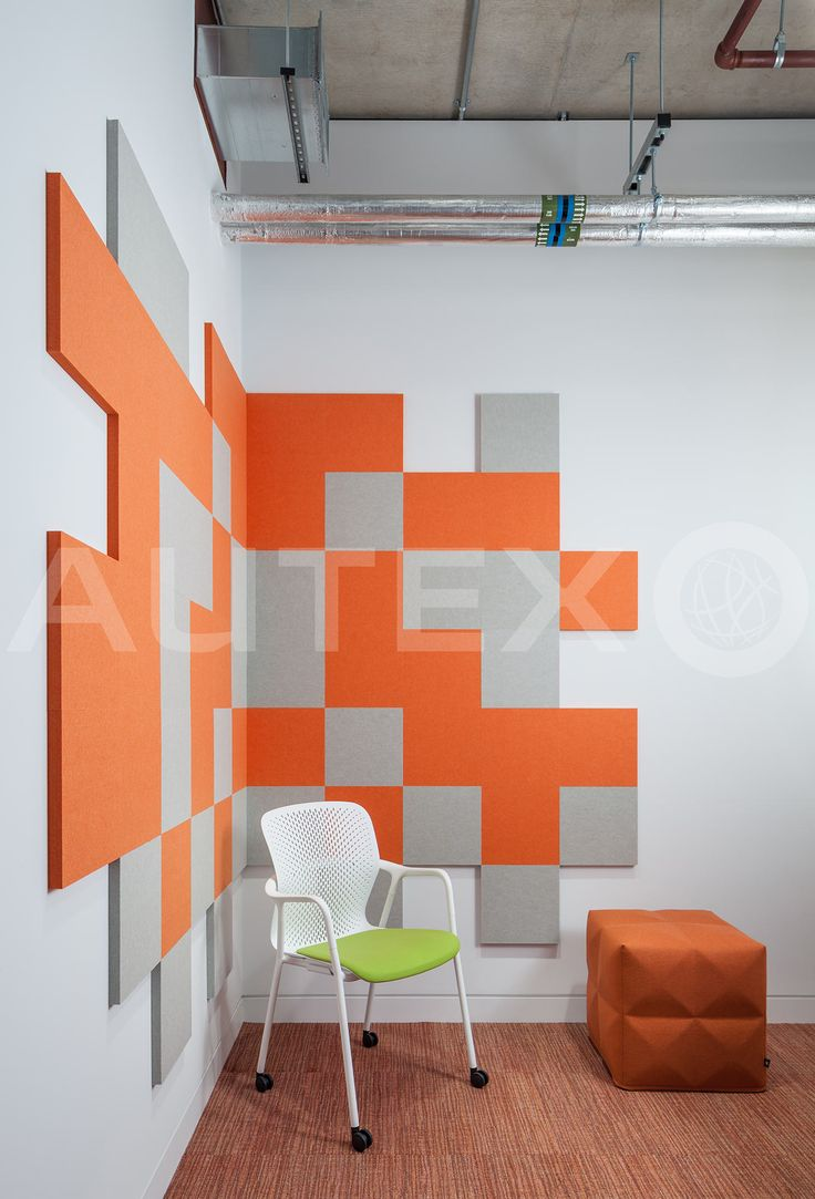 Autex Interior Acoustics - 24mm Cube™ - Colours: Savoye & Zenith - Adobe Head Office, London, UK - Bespoke Water Cut Design