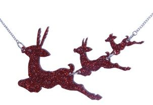 Flying Fawns Necklace - Red £66 (sale £33) - AW08 Attack of the 50 Foot Jewellery