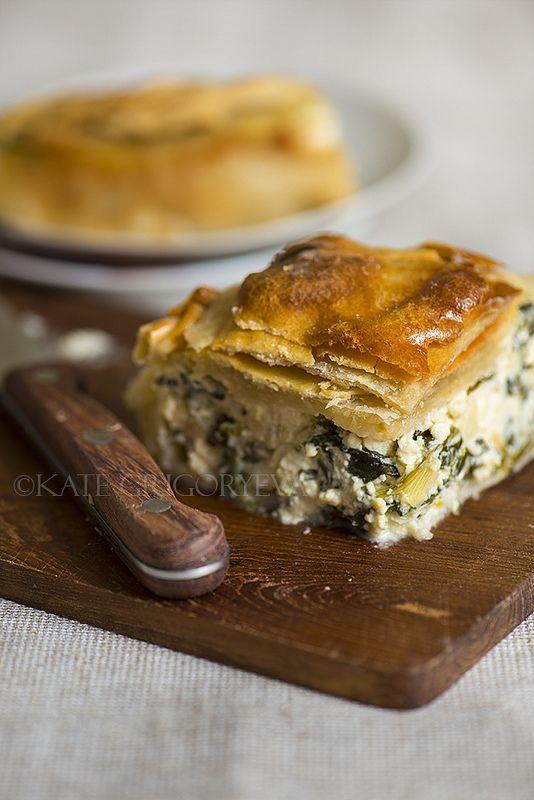 Тесто фило и пирог с фетой и шпинатом - Жизнь со вкусом