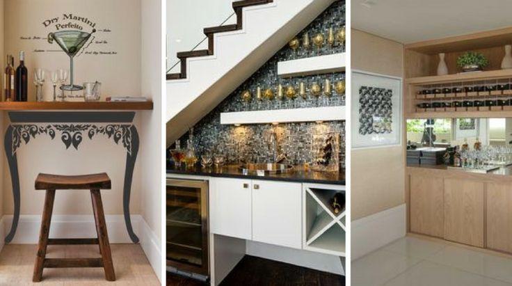 É cada vez mais comum ter um espaço em casa para guardar as garrafas e os utensílios, de forma a ter um mini bar. Longe vão os tempos em que as casas tinha