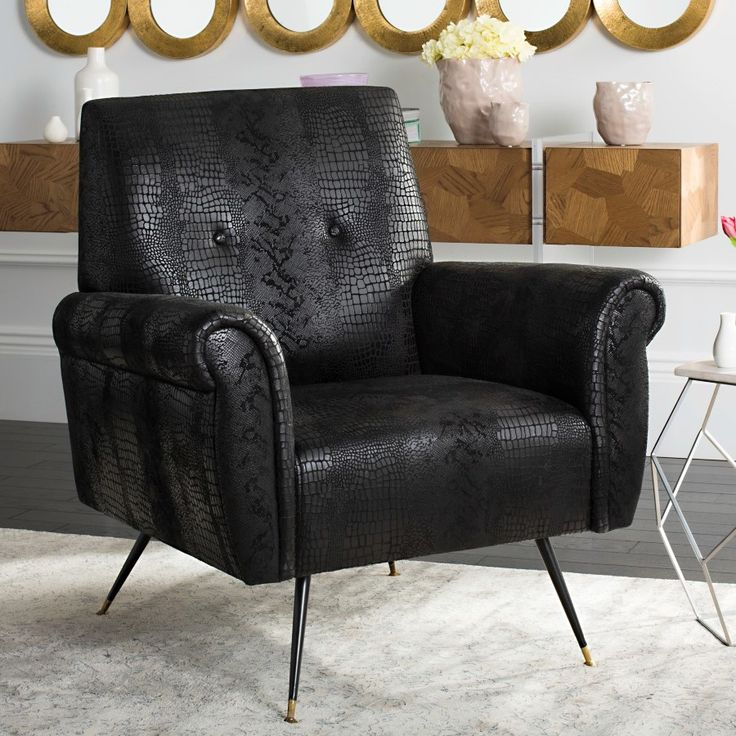 Staci Faux Leather Arm Chair