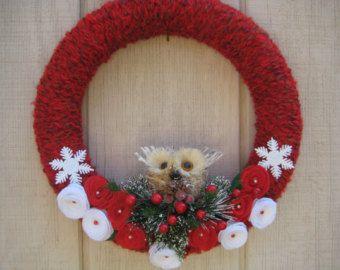 Weihnachtskranz Garn Urlaub Kranz Weihnachtskranz Filz von madymae