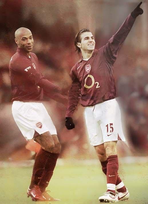 Cesc and Thierry #fabregas #francesc #arsenal #soccer #football
