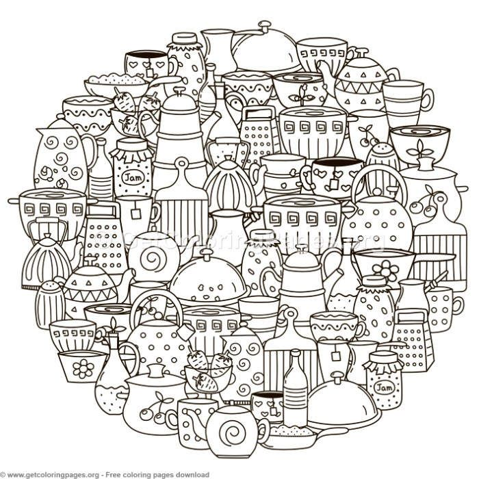 Circle Shape Kitchen Accessories Pattern Coloring Pages Getcoloringpages Org Coloring Coloringbook C Pattern Coloring Pages Coloring Books Coloring Pages