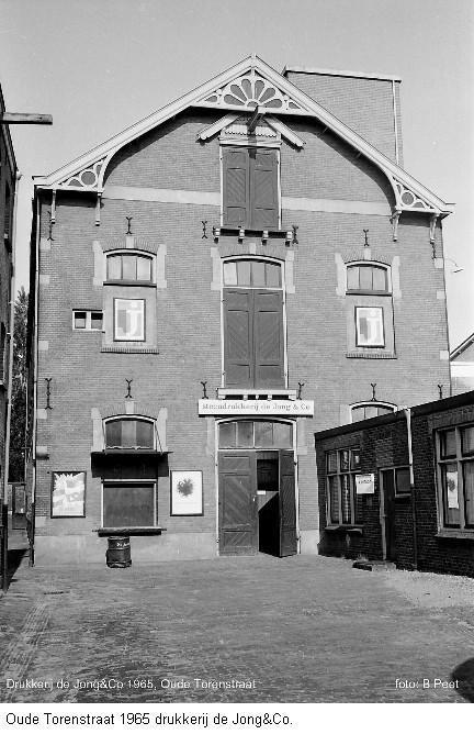 Drukkerij De Jong,  Oude Torenstraat,  1965