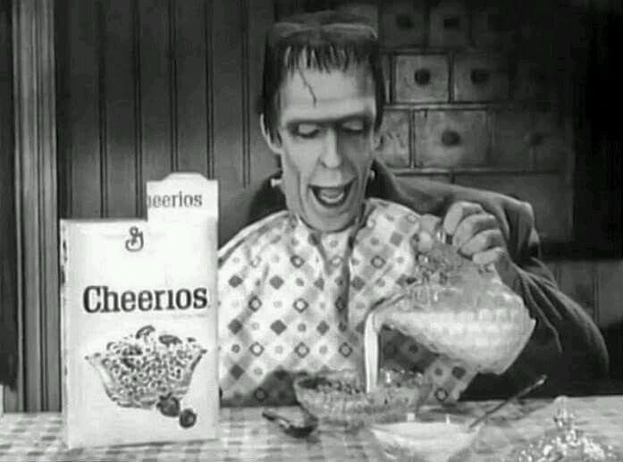 Herman Munster advertising Cheerios