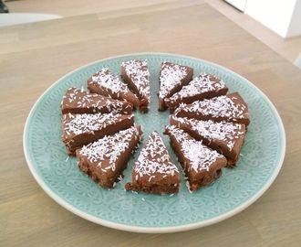 Chocolade-kokos taart (RAW)