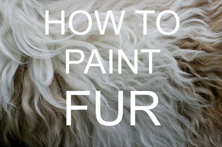 How to paint FUR Acrylic tutorial #bigartquest #19