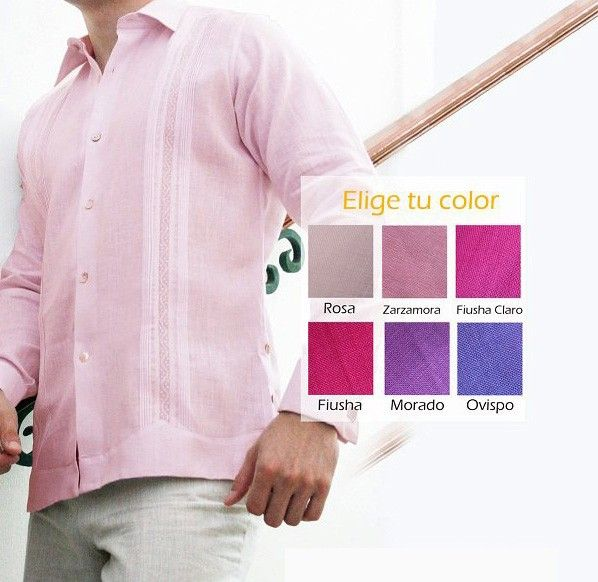 Guayabera Custom design by GCubanas Brand. Pick your Color  Style  Guayabera. (2-3 weeks) - We will design your guayabera, You choose the color and the style and we will made the guayabera for you, in 2 weeks. We design this for wedding or for any special occasion. 100% handkerchief linen - not too light and not heavy at all.  We are working for making you Happy !.