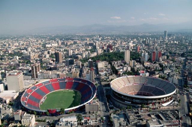Estadio Azul y Plaza de toros México (Mexico DF).