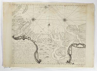 Karta över Hever-strömmen vid Ejder, Elbe, Weser-mynningarna, från 1776.