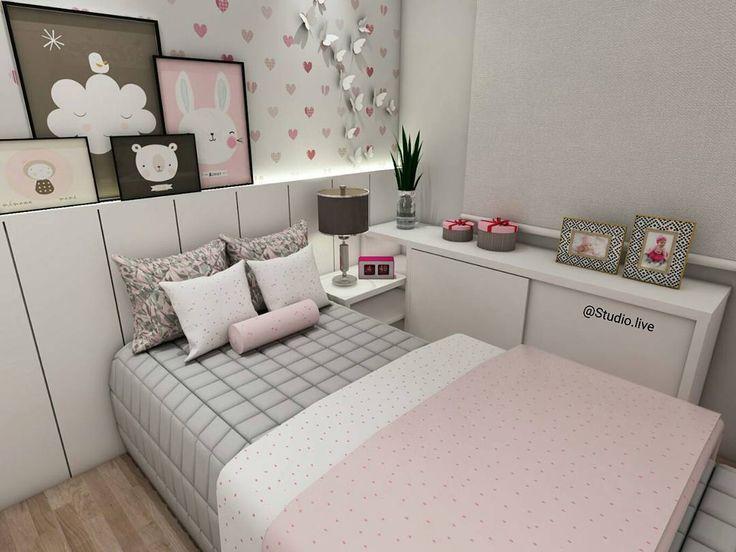 """Studio Live Design no Instagram: """"Projeto autoral: Dormitório atemporal super romântico e feminino, para qualquer idade mudando apenas as decorações colocadas. #design…"""""""