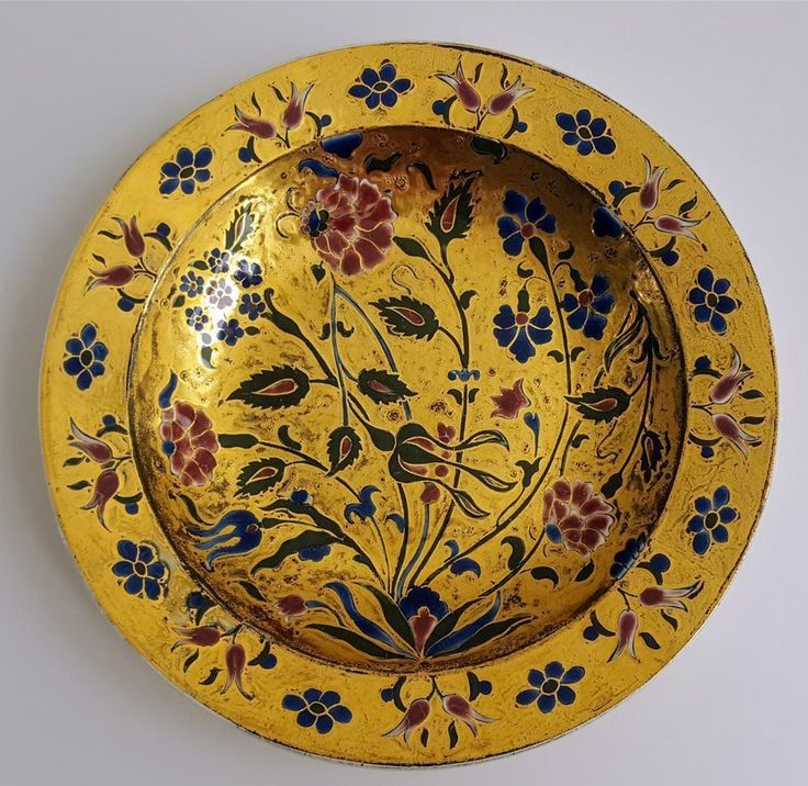 Zsolnay Pecs Richly Gilded & Enameled Floral Plate c1880 -  Size: 24.25cm (9.6 inch) Diametre X 3.5cm (1.4 inch) Tall.   Zsolnay pecs signed and impressed mark with form number 45. Dating 1873 - 1882.