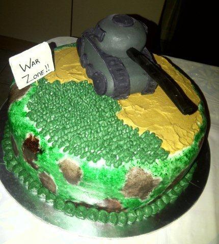 Camo Tank Cake