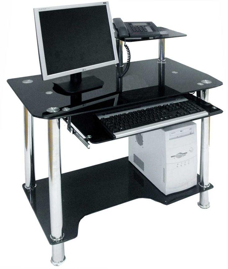 Black Computer Desk. Bush Stanford Computer Desk. Sleek Black ...