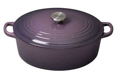 Cast Iron Oval Casserole in Cassis