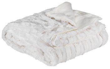 Pătură MYGGBLOM 130x170 imit. blană albă | JYSK