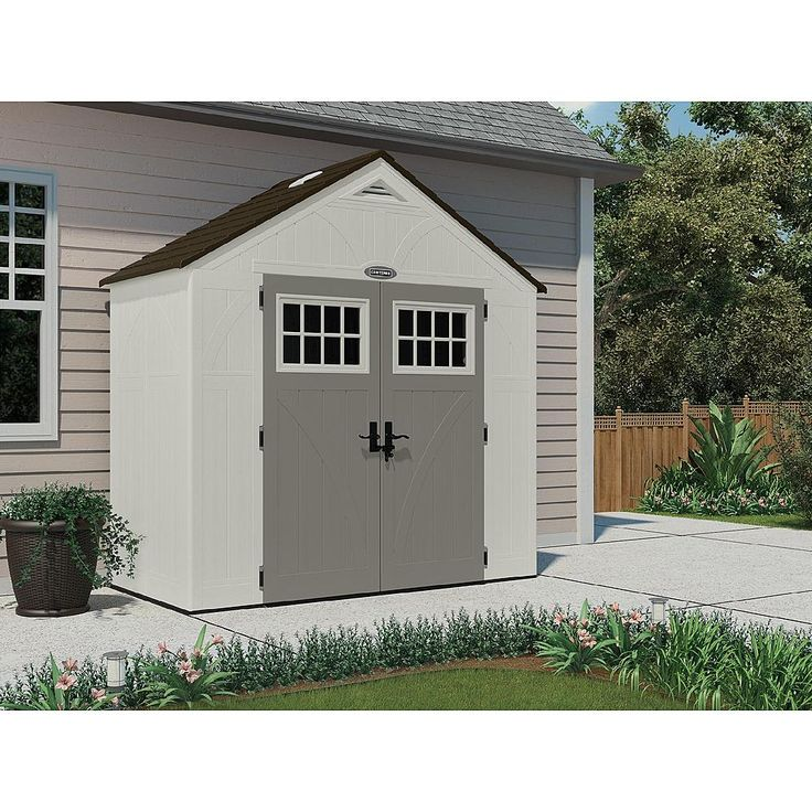 craftsman 8 x 4 storage building weather resistant storage at sears landscapinggardening pinterest sheds craftsman and storage - Garden Sheds 8 X 4
