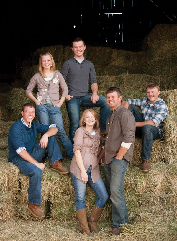 Great example of how a family can coordinate their wardrobe to have a cohesive look