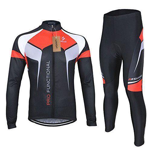 Lixada Homme maillot velo + Pantalons de Cyclisme Manches Longues Respirant Vêtements de Cyclisme: Spécifications: Sexe: Hommes Matière:…