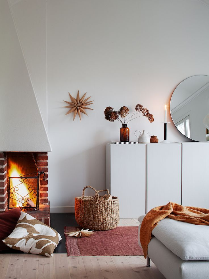 candles and stars in a cosy swedish home at christmas winter rh pinterest es