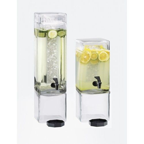 square clear beverage dispensers item showcase your beverages with this elegant and - Beverage Dispensers