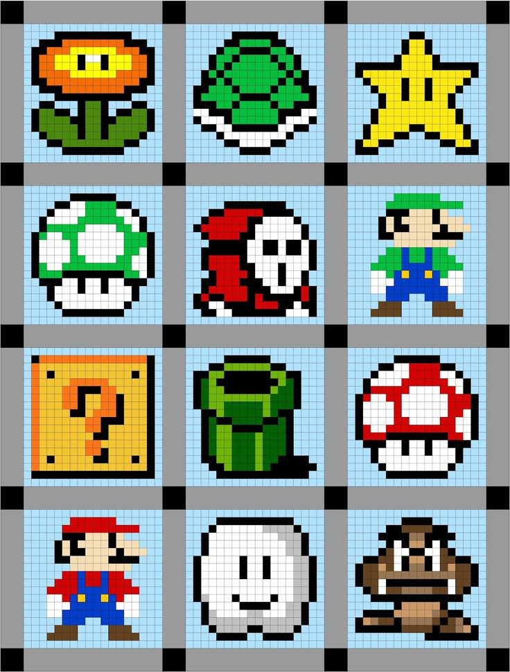 Cut to Pieces: Super Mario Brothers Quilt Along Sneak Peak