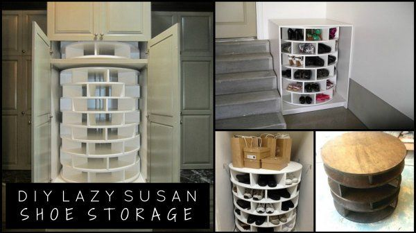 Adding extra storage in your home for shoes can easily be done when you follow a set of plans to build your own lazy susan shoe storage unit for any room.