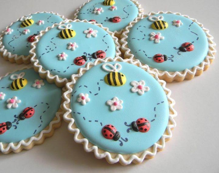 bijtjes en Lieveheersbeestjes koekjes