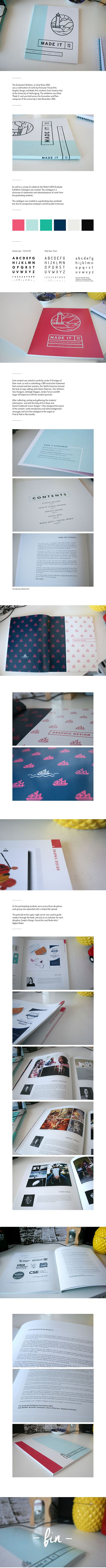 'Made It' 2014 Graduate Exhibition Catalogue on Behance