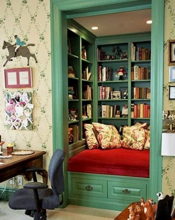 From Domino Magazine - closet makes a library