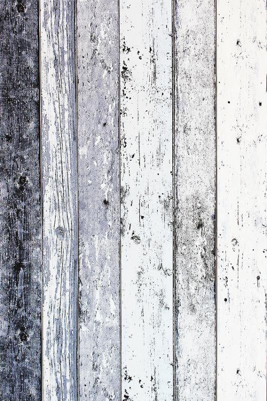 Steigerhout Vliesbehang Blauw/Grijs bij Behangwebshop