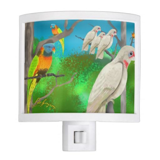 Cockatoos and Friends Night Light by Peter Grayson