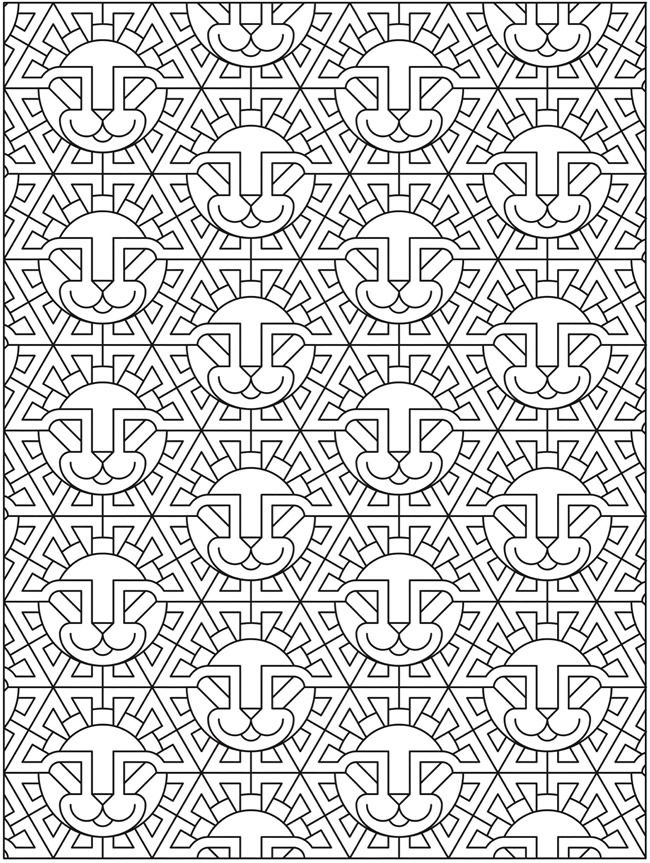 87 best Color Geometric Designs images on Pinterest | Coloring books ...