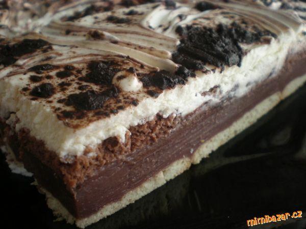 BE BE řezy s čokoládou NEPEČENÉ JEDNODUCHÉ A VÝBORNÉ