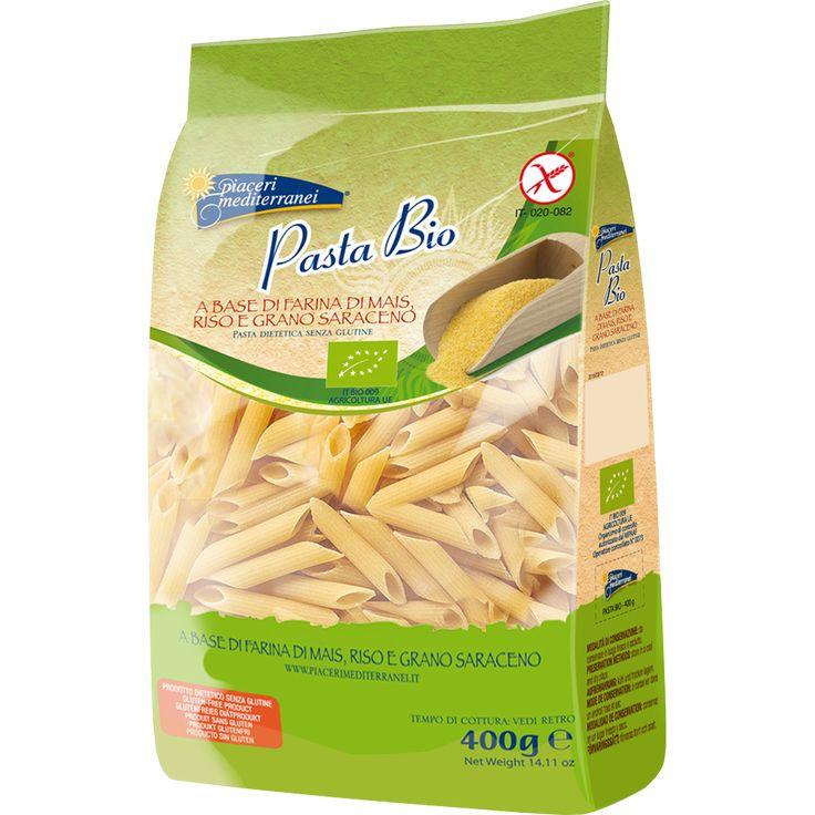 Pasta Bio - Penne Rigate PASTA BIO A BASE DI FARINA DI MAIS, RISO E GRANO SARACENO. La nuova Pasta Bio, a base di una miscela di 3 farine selezionate d'Agricoltura Biologica, è equilibrata, saporita e nutriente. La combinazione della farina di mais, di riso e di grano saraceno assicura un'ottima tenuta delle cottura, un gusto vincente e un elevato profilo nutrizionale.   www.piacerimediterranei.it/prodotti/pasta-senza-glutine/pasta-bio-penne-rigate
