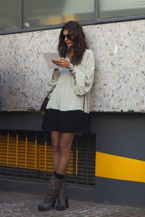 Giovanna Battaglia Fendi boots fashion week