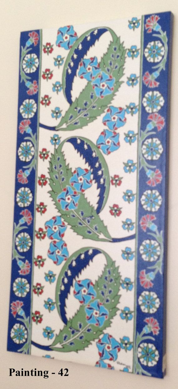 turkish tile design art paintings by LalemUSA on Etsy, $200.00