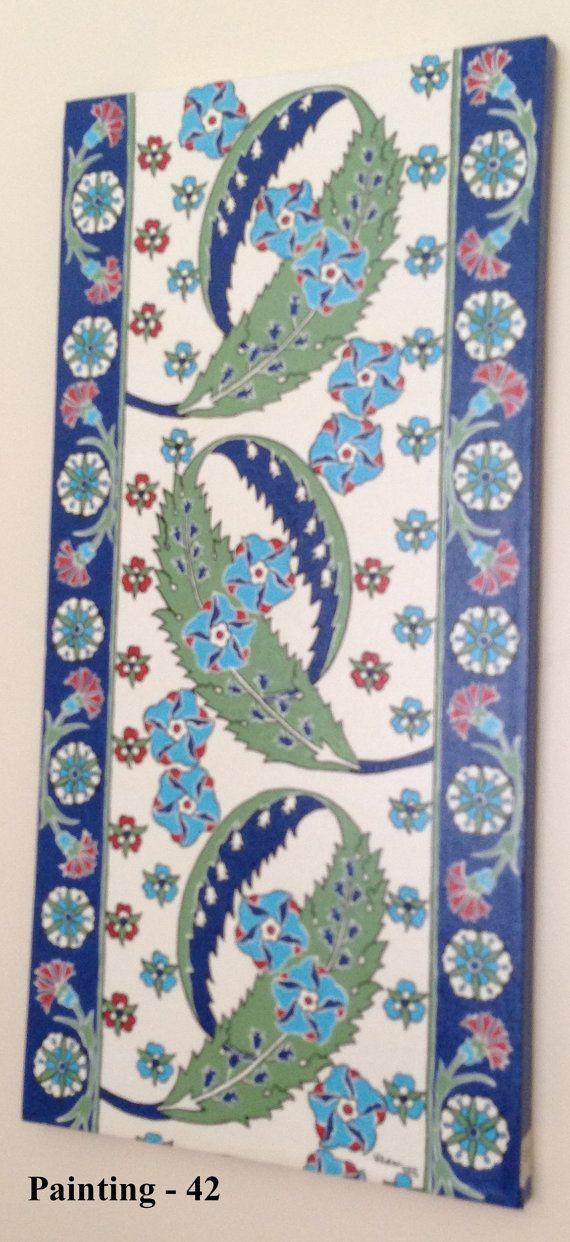 turkish tile design art paintings by LalemUSA on Etsy, $200.00