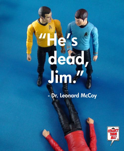 """Damnit Jim, I'm a doctor not a miracle worker."" Star Trek Action Figures -- I NEED these!"