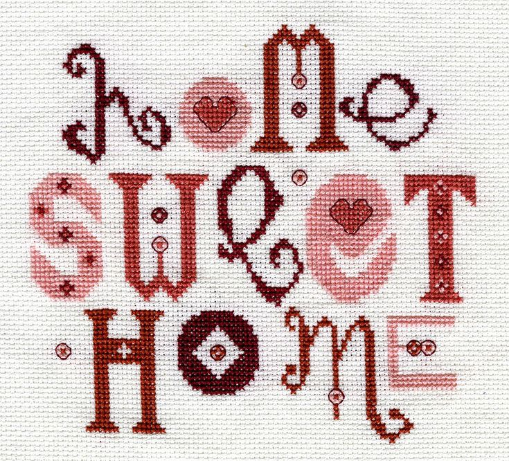 home sweet home designs.  Home Sweet Cross Stitch Kit 318 best cross stitch images on Pinterest