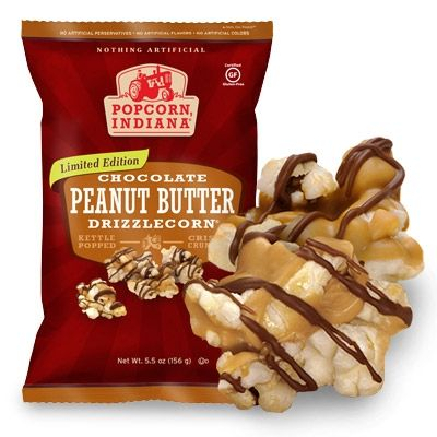 The ultimate snack: Popcorn, Indiana Peanut Butter Chocolate Drizzlecorn.