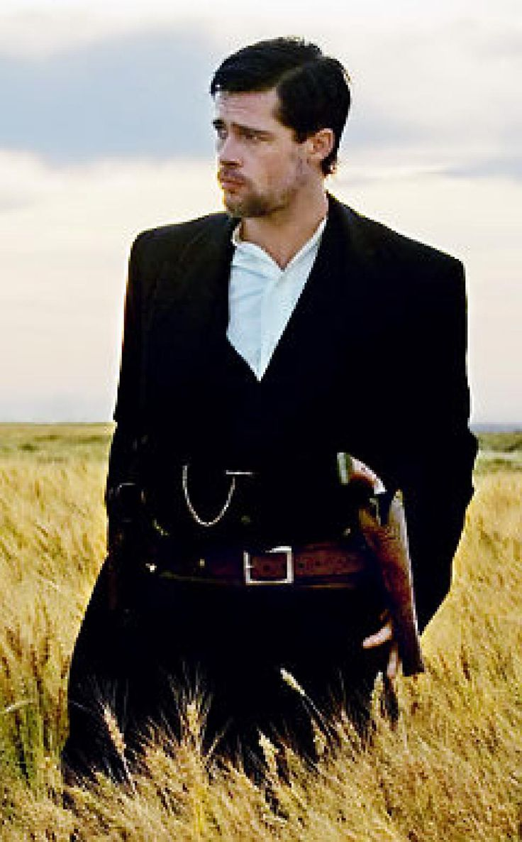 "Brad Pitt as Jesse James in ""The Assassination of Jesse James by the Coward Robert Ford"""