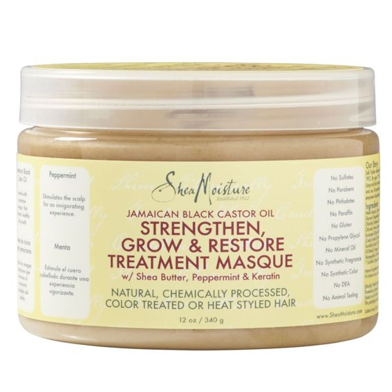 Hydrating Deep Conditioners to Undo Winter Dryness: Shea Moisture Strengthen, Grow, and Restore Treatment Masque #InStyle
