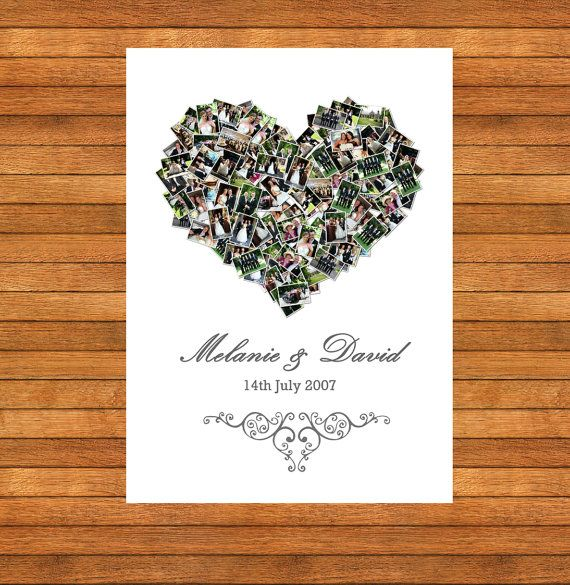 Heart Picture Collage  Home Decor Memories by WordPerfectPictures
