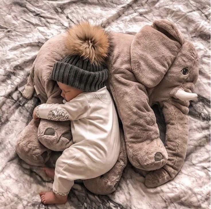 Plüsch Elefant Kissen Spielzeug   – babyyy