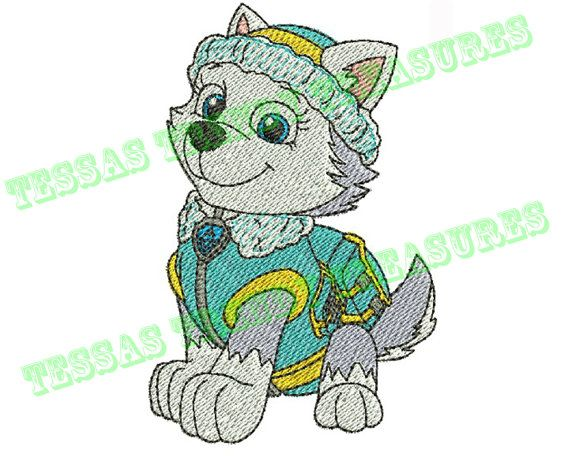 Paw Patrol Everest Embroidery Design