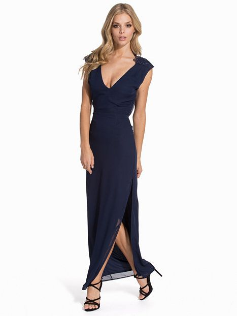Lace Shoulder Maxi Dress